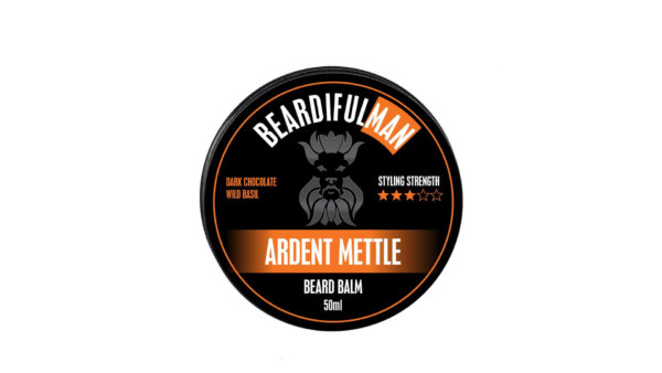 Single 50ml tin of Ardent Mettle premium quality beard balm from Beardifulman