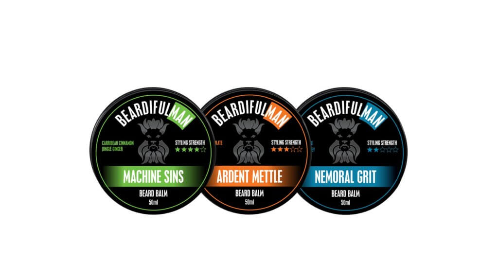 Get all three beard balms in the Beardifulman M.A.N range together in one package deal