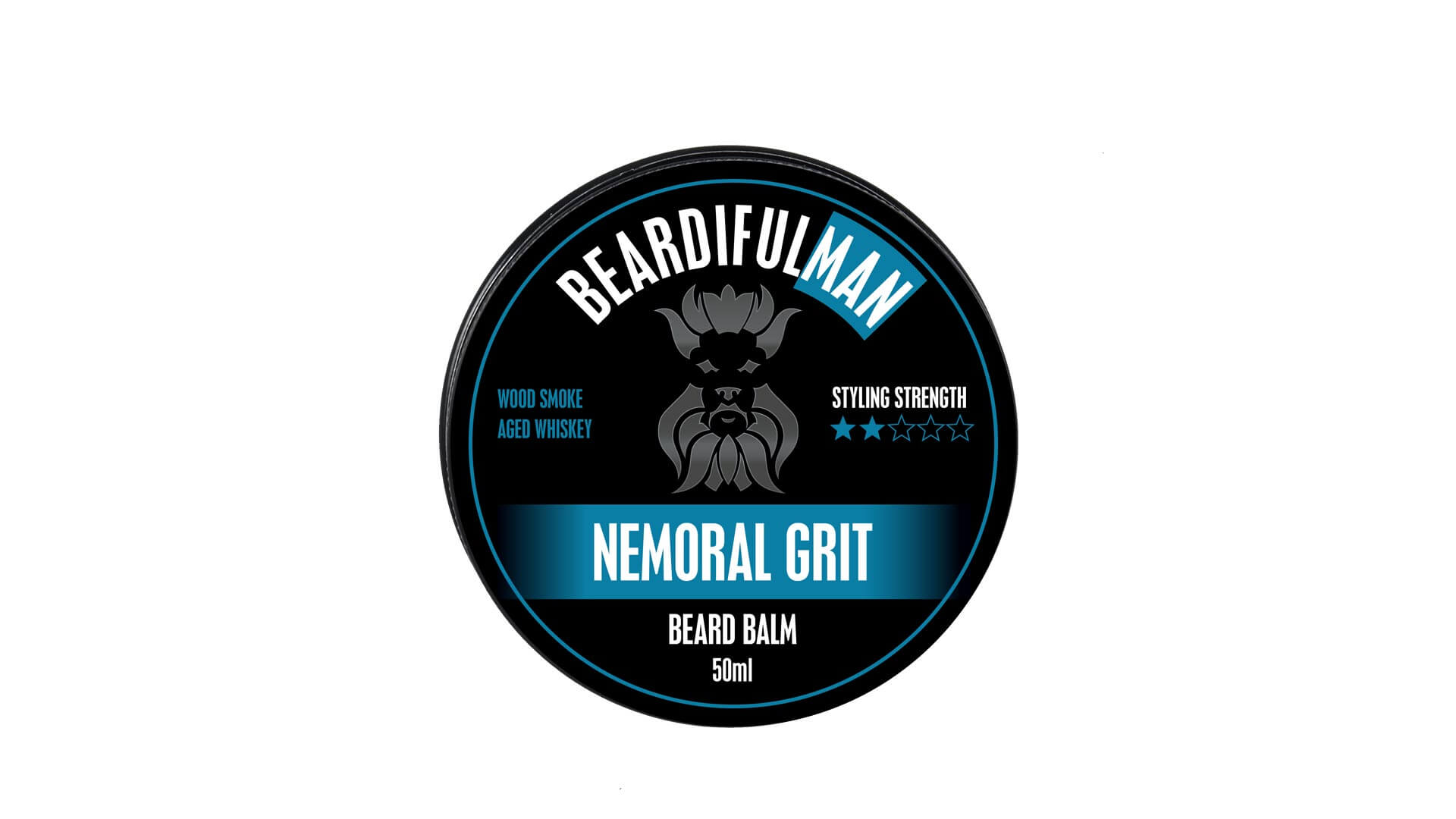 Single 50ml tin of Nemoral Grit premium quality beard balm from Beardifulman