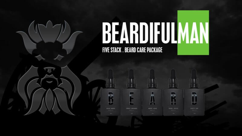 Five Stack beard care package promo image
