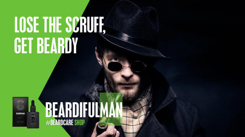Lose the scruff, get beardy! Beardifulman beard care products and accessories. Be beardiful!
